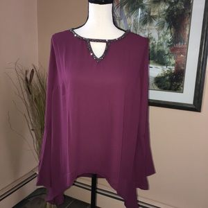 Juicy Couture Cut Out Woven Top